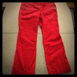 The Loft size 10 red pants